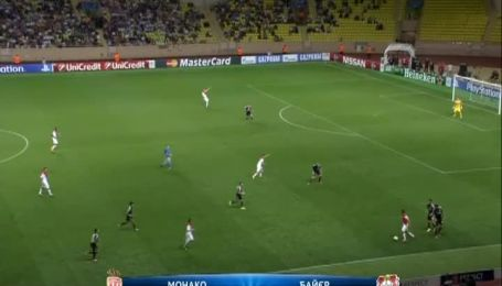 Монако - Байер - 1:0. Видео матча
