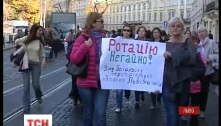 Протест бойцов 3 батальона теробороны парализовал Львов