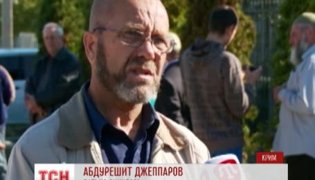 Крымские татары устроили стихийную акцию в Белогорске