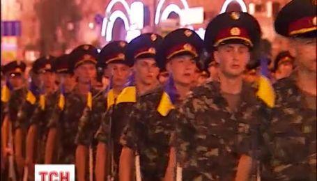 На Хрещатику пройшла репетиція військового параду на День Незалежності