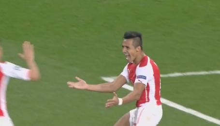 Арсенал - Галатасарай - 3:0. Відео голу Санчеса