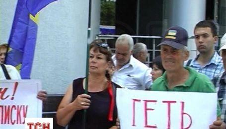 В Полтаве требовали увольнения начальника милиции