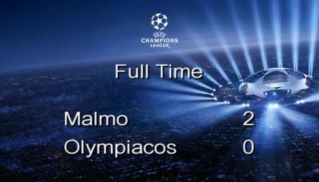 Мальме - Олимпиакос - 2:0. Видео матча