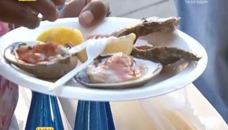 Свежие морепродукты - уличная еда американцев
