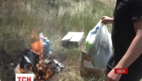 Одесские милиционеры сожгли коллекцию наркотиков, которые хранились как вещественные доказательства