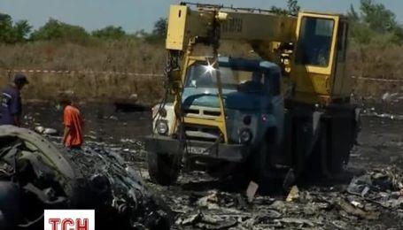 Под сгоревшими частями самолета спасатели обнаружили обгоревшие фрагменты тел и скелеты