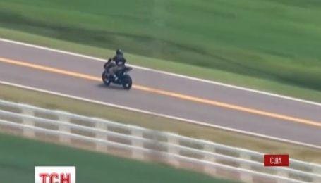 В Оклахоме милиция устроила бешеную погоню за вором мотоцикла