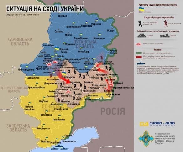 Мапа звільнених територій