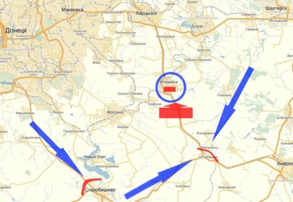 Іловайський котел мапа