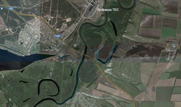 Луганська ТЕС мапа