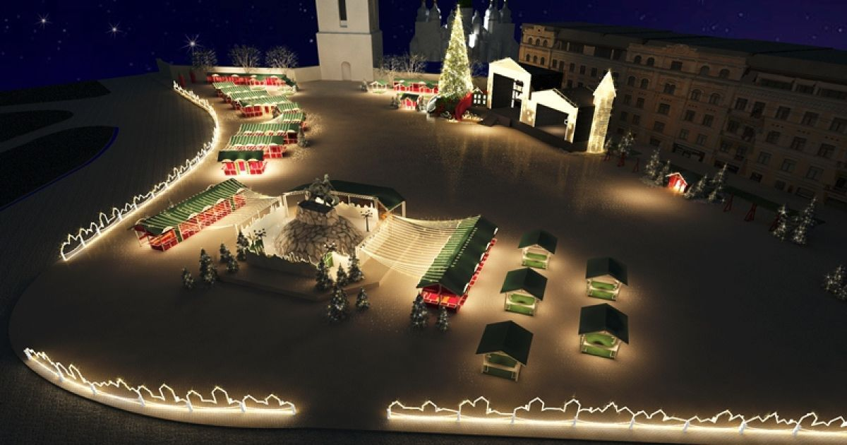 Такою на новорічно-різдвяні свята має стати Софійська площа в Києві @ folkukraine.com
