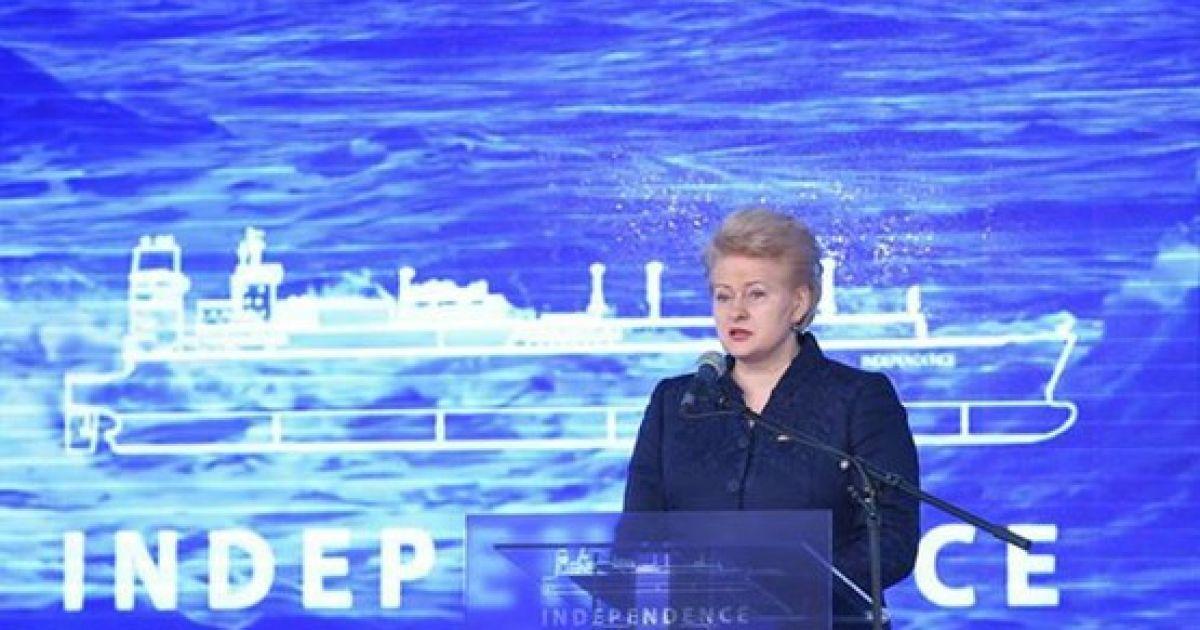 Зустріти перший танкер із норвезьким газом приїхала президент Литви Даля Грібаускайте @ Fighthype.com