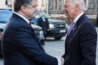 Порошенко и Байден назвали наиболее приемлемый формат для переговоров о Донбассе