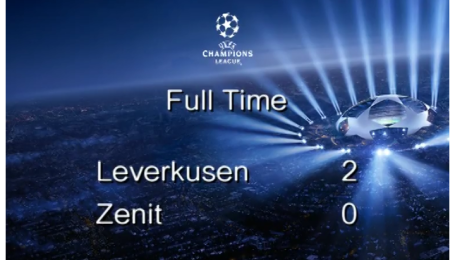 Байер - Зенит - 2:0. Видео матча