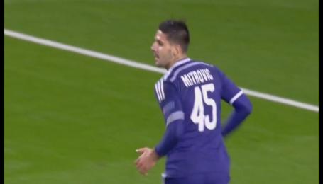 Арсенал - Андерлехт - 3:3. Відео голу Мітровича