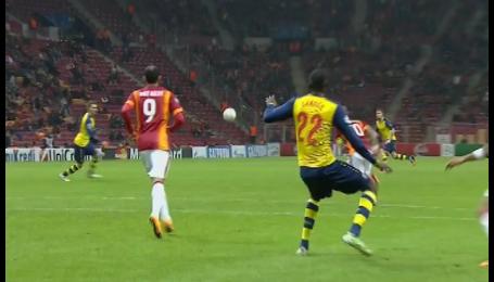 Галатасарай - Арсенал - 0:3. Відео другого голу Ремзі
