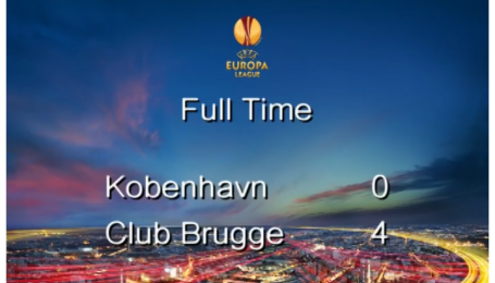 Копенгаген - Брюгге - 0:4. Видео матча