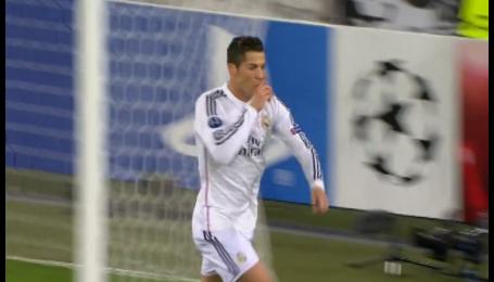 Базель - Реал - 0:1. Видео гола Роналду
