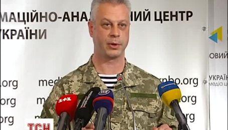 В РНБО наполягають, що касетні бомби летять з боку бойовиків