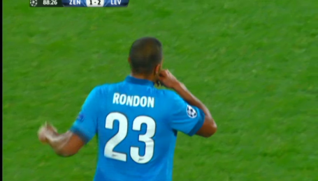 Зенит - Байер - 1:2. Видео гола Рондона