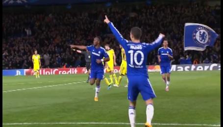 Челси - Марибор - 6:0. Видео второго гола Азара