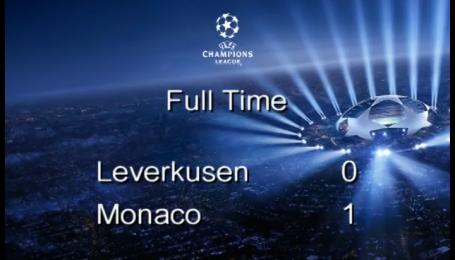 Байер - Монако - 0:1. Видео матча