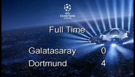 Галатасарай - Боруссія Дортмунд - 0:4. Відео матчу