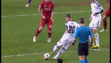 Ливерпуль - Базель - 0:1. Видео гола Фрая