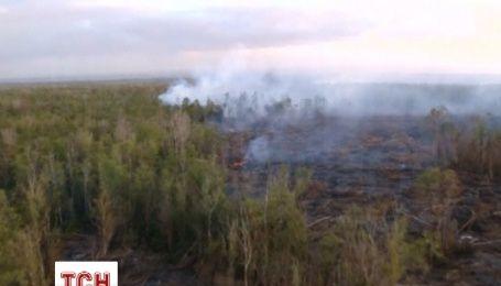 Лава на Гаваях випалює ліс і наближається до чергового містечка