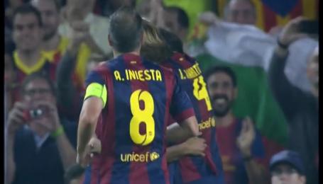 Барселона - Аякс - 1:0. Видео гола Неймара