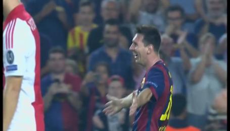 Барселона - Аякс - 2:0. Видео гола Месси