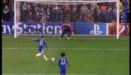 Челси - Марибор - 5:0. Видео гола Азара