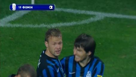Черноморец - Ворскла - 1:0. Видео гола Фомина