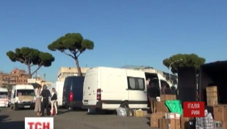 Матері-заробітчанки та волонтери у Римі збирають посилки воякам АТО