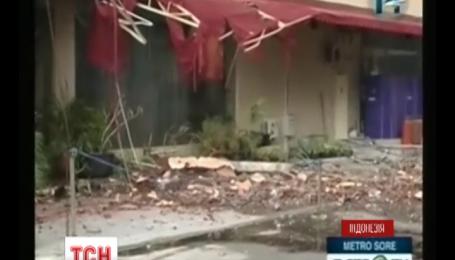 В Индонезии наблюдали сразу два стихийных бедствия