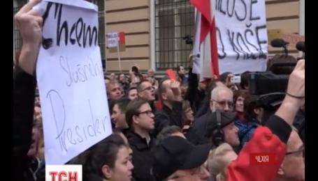 Чехи вышли на митинг из-за антиукраинских высказываний своего президента