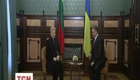 Порошенко начал встречу с президентом Литвы