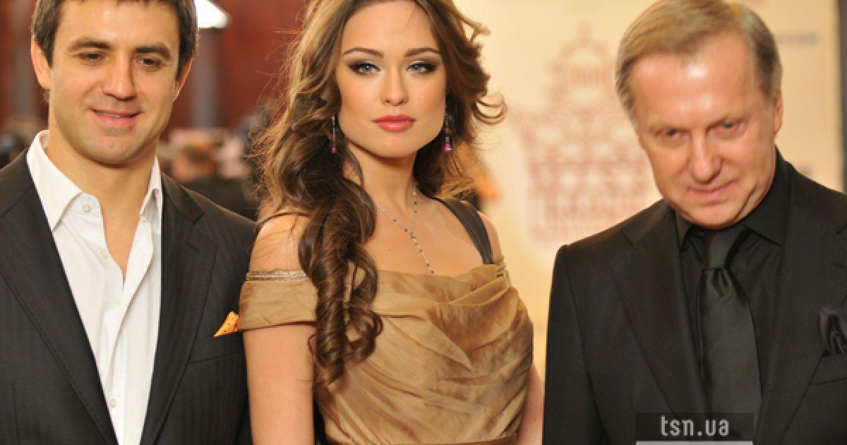 Ресторатор Николай Тищенко (слева) и беременная Ирина Журавская