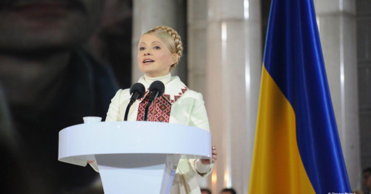 "Юлия Тимошенко во время съезда партии ""Батькивщина"" на Майдане Независимости @ tymoshenko.com.ua"
