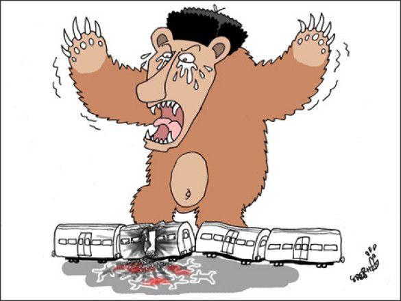 Карикатури в The Korea Times на теракти в московському метро