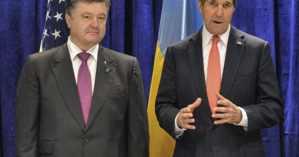 Петро Порошенко і держсекретар США Джон Керрі @ УНІАН