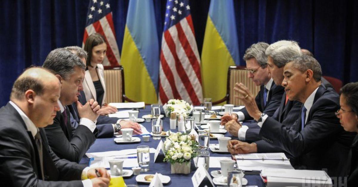 Основні питання під час українсько-американської зустрічі - боротьба України з агресією Росії та економічною кризою @ УНІАН