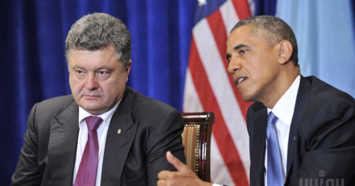 Обама пообіцяв Порошенку економічну та політичну підтримку Україні від США @ УНІАН