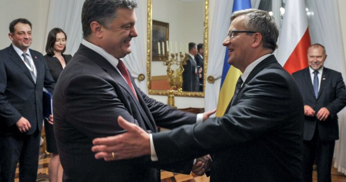 Петро Порошенко зустрічається з президентом Польщі Броніславом Коморовським @ УНІАН