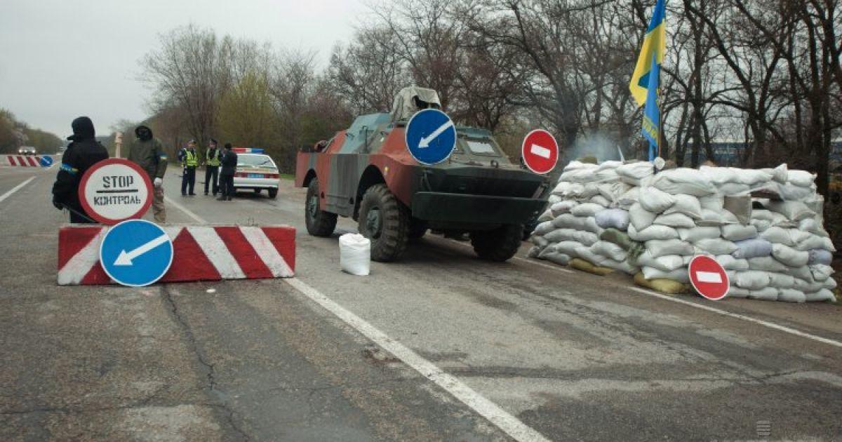 В Запорожье построили блокпосты @ УНІАН