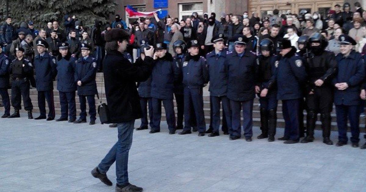 Фото Коледи з проросійського мітингу у Миколаєві @ ВКонтакте/Мария Коледа