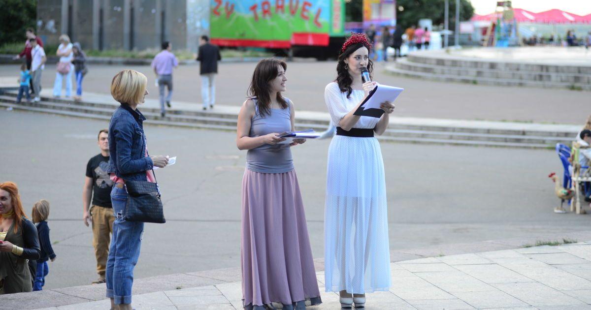 "Ведучою акції стала зірка ""1+1"" Соломія Вітвіцька. @ olex-kurinniy.livejournal.com"