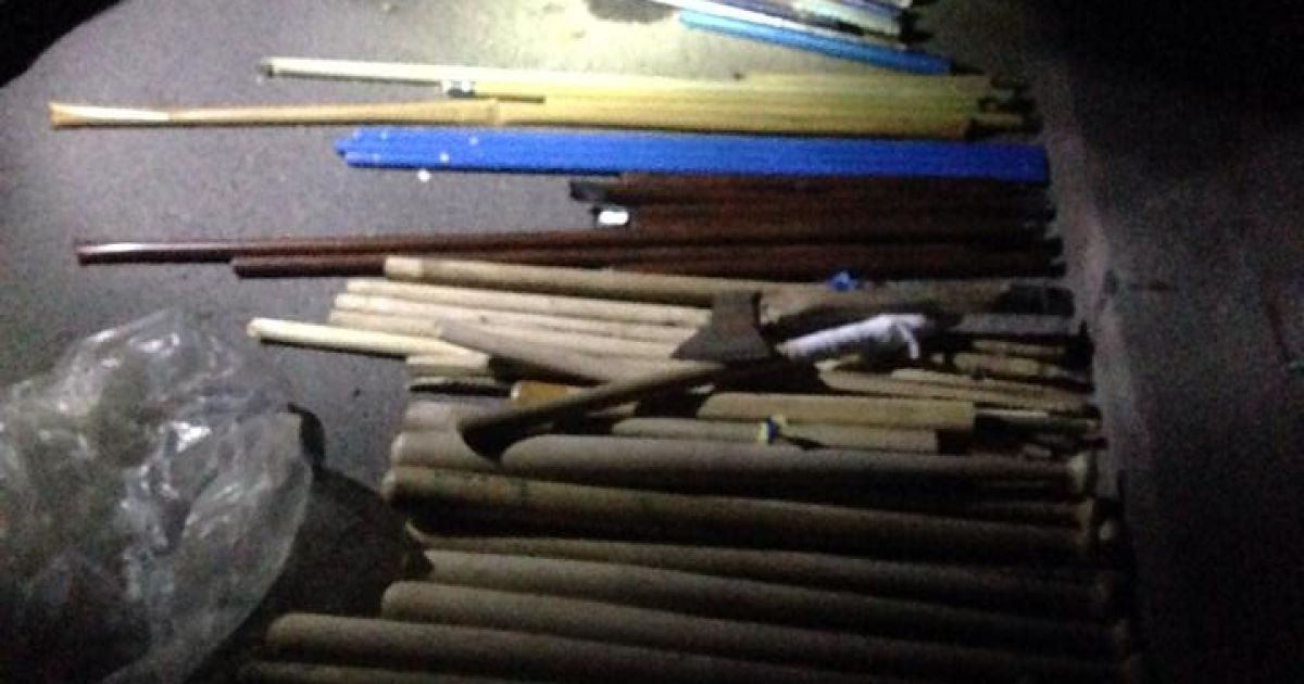 Сепаратисты имели при себе огнестрельное оружие @ facebook.com/Владислав Єнтін