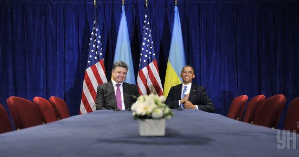 Основна частина зустрічі Порошенка та Обами відбулася за зачиненими дверима @ УНІАН
