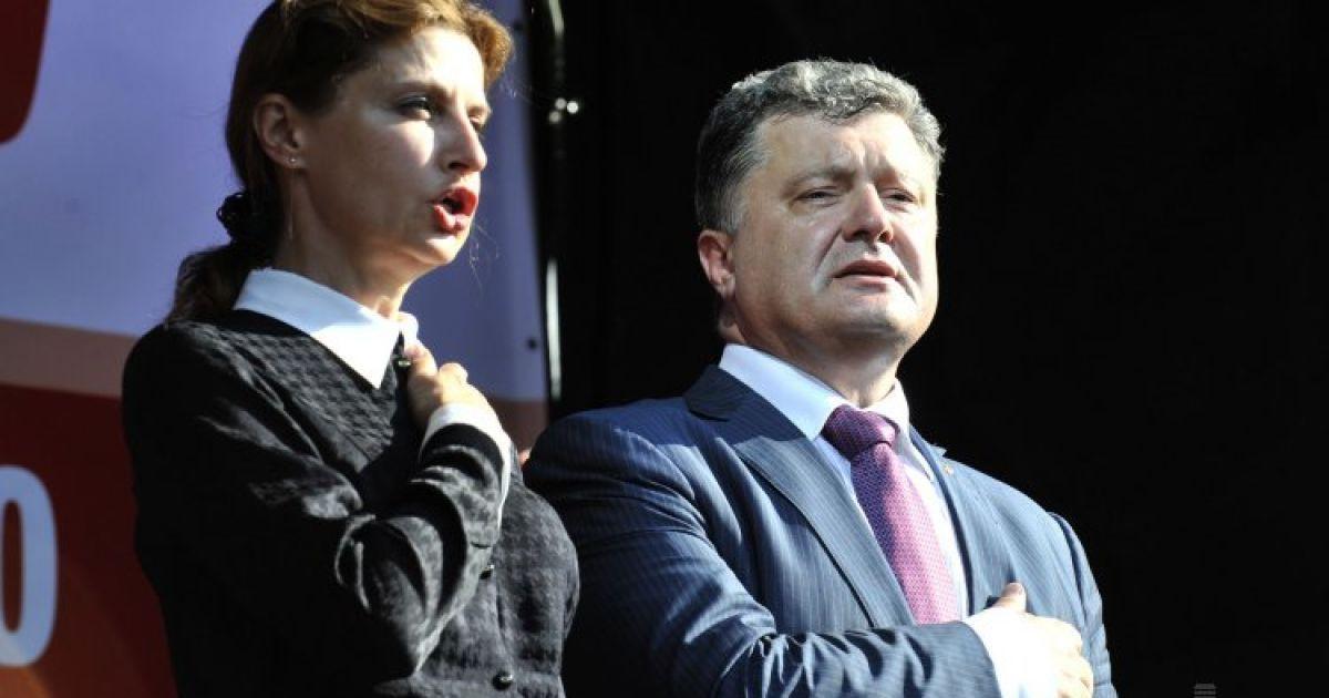 Марина та Петро Порошенки. @ УНІАН
